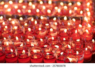 Red lucky candles