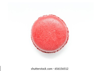 Red Macaroon isolated on a white background.