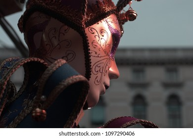 A red mask