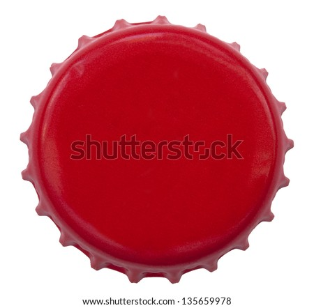 A red metal bottle