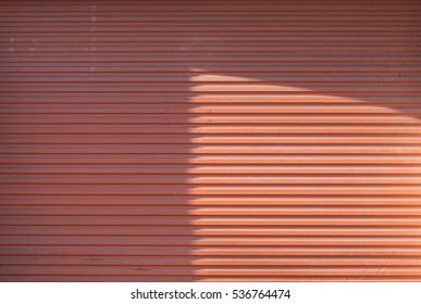 The red metal sheet texture