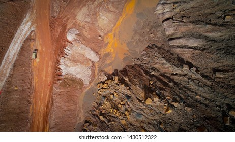 red mine Guadalajara Spain by drone