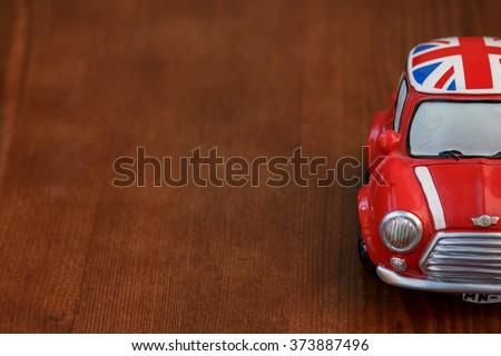 Red Mini Cooper model