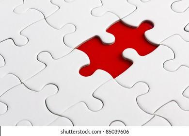 Red missed piece