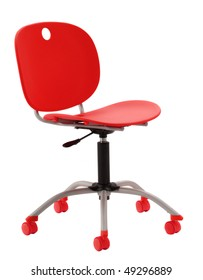 red modern office chair