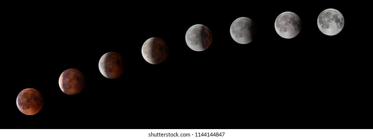 Red moon during eclipse