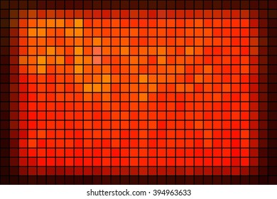 Red mosaic tiles. Abstract colorful background