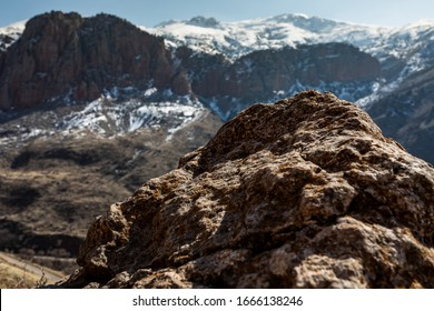 Red mountains, view from territory of monastery in Noravank. Armenia. Beautiful mountain landscape. The nature of Armenia. Armenian landscape. Beautiful landscape. Vayots Dzor Province, Armenia.