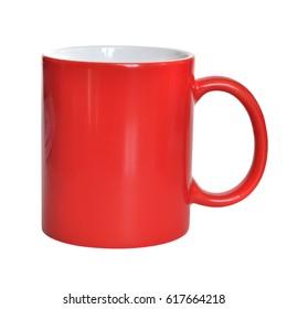 Red mug isolated