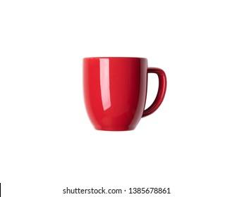 red mug on isolated white background
