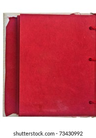 Red mulberry left page of handmade notebook