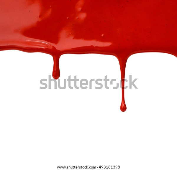 Red nail polish isolated on white background