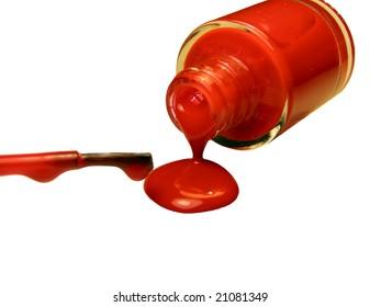 red nailpolish