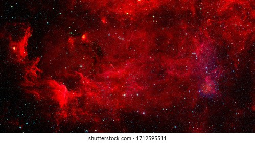 Red nebula. Elements of this image furnished by NASA.