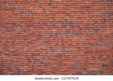 Red new Brick wall for background or texture. Old red brick wall texture background