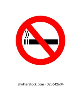 Red No smoking sign - crossed cigarette