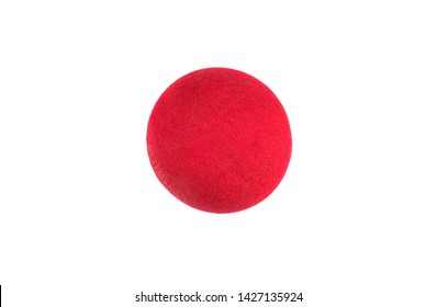 Red Nose Day, red clown nose on white background
