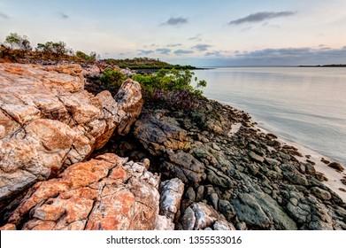 Red ocre rocks at Honeymoon Bay Kalumburu Western Australia Kimberley Region