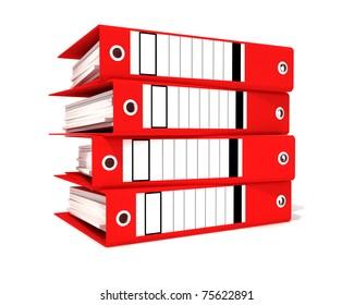 red office binders