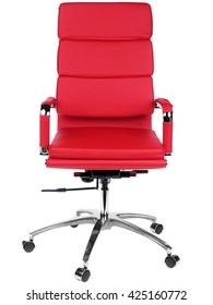 Red office a chair. Object isolated of background