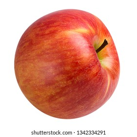 red one apple isolated with clipping path