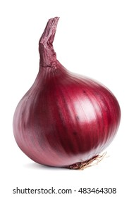 Red onion isolated on white with clipping path