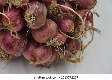 red onion of rot with soft focus on white background