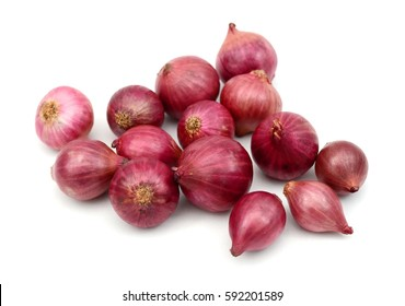 Red onions isolated on white