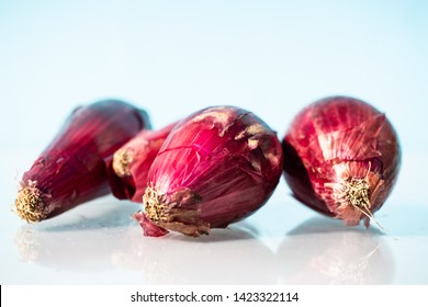 red onions from Tropea, white background