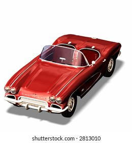Red open Sportscar / Cabriolet
