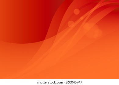 red orange abstract background. Waves and glare