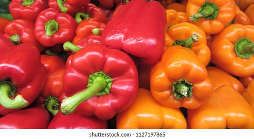 Red and Orange Bell Peppers