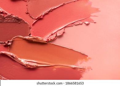 Red orange brown lipstick background texture smudged