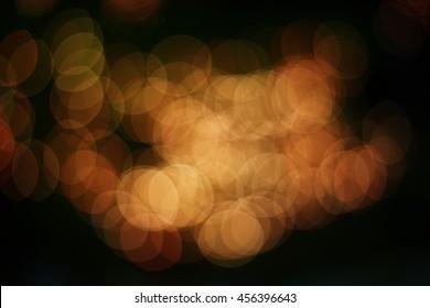 Red and Orange night bokey lights.Bokey backgrounds.
