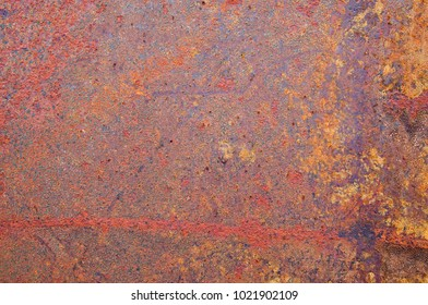 red and orange rusty corroded metal background texture