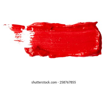 Red paint isolated on white background
