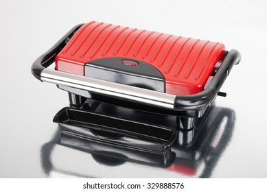 red panini machine