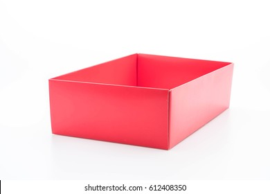 red paper box on white background