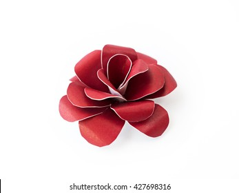 Origami paper flower images stock photos vectors shutterstock red paper flowers on white background mightylinksfo