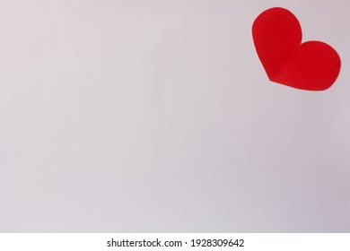Red paper hearts isolated on white background, paper art copy space for text