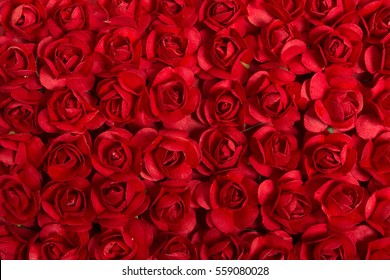 Red paper roses background