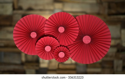 Red paper rossetes