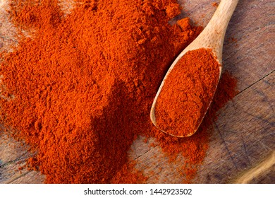 red paprika on wooden background