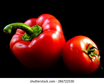 red paprika and tomato
