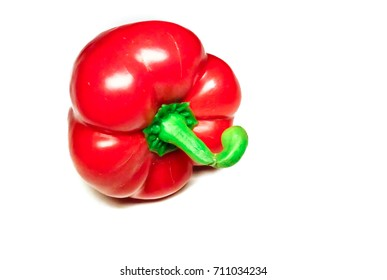 Red paprika,Capsicum annuum isolated on white backround