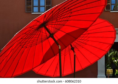 Red Parasols - February 2017 - Cartagena, Colombia