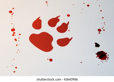 Blood Paw Print Images Stock Photos Vectors Shutterstock Bloody wolf paw prints tattoo by jamjams on deviantart. https www shutterstock com image photo red pawn sign fake blood 43643986