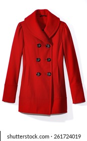 Red Pea Coat