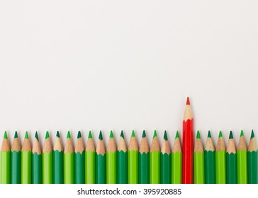 Red pen standing out