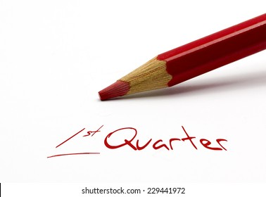 Red pencil - 1st Quarter